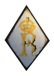 <i>Badge of Richard III</i>, lozenge-shaped stained glass 'quarry', English, <i>c</i>.1480