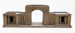 Model for Tyringham, Buckinghamshire, gateway and  lodges, (designed by Sir John Soane), painted wood, 1794