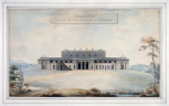 Soane office, design, perspective of a design for the entrance front of Baronscourt (Co. Tyrone), Ireland, for the Marquis of Abercorn, 1791