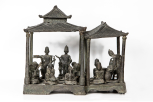 A pavilion with figures (Javanese), perhaps made as a gift for a colonial administrator, late 18th or early 19th century