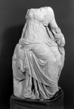 Torso of a seated muse-type figure