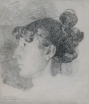 Portrait of Miss Maria Denman (<i>fl</i>.1808 - 1861), sister-in-law of the sculptor John Flaxman.