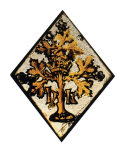 <i>Badge of Henry VII</i><i>I,</i> a lozenge shaped stained glass 'quarry', English, <i>c</i>.1530