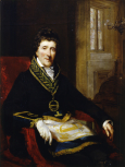<i>Portrait of Sir John Soane, in Masonic Costume, as Grand Superintendent and President of the Board of Works</i>