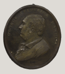 Medallion portrait of the composer George Frideric Handel (1685–1759)