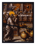 <i>The Marriage at Cana</i>, stained glass panel, workshop of Dirk Pietersz. Crabeth., Netherlandish, <i>c</i>.1540