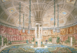 <i>Design for the interior of a new Ball and Assembly-Room, surrounded by a promenade</i>