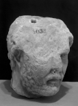 Head of the Roman emperor Hadrian, a fragment of a large relief.