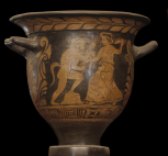 A campanian bell krater (wine bowl) attributed to the circle of the Parrish painter.
