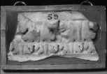 Fragment of Roman architectural carving: the top member of an architrave(?)