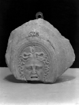 Fragment of an oval shield with a medusa head