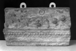 Fragment of the end of a small Roman frieze and architrave