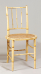 Lightweight chair, English, unknown maker, early nineteenth century, beech with cane seat, painted in imitation of bamboo<sup>1</sup>