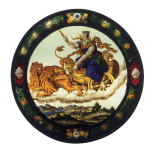 <i>Cybele in her chariot (Earth)</i>, stained glass roundel, Netherlandish, <i>c</i>.1600