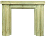 Model for Pell Wall, Shropshire, chimneypiece, (designed by Sir John Soane), painted wood