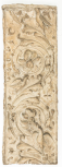 Cast of a pilaster panel with arabesque and scroll ornament, perhaps from the Arch of the Argentarii, plaster.