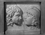 Roman decorative window panel sculpted on both sides