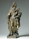 Statuette of King Charles II wearing the robes of the Order of the Garter, terracotta