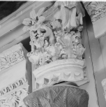 Cast of a quarter of one of the capitals of the Temple of Vesta at Tivoli