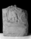 Fragment of a Roman votive relief to <i>Fortuna Redux</i>