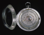 A calendar watch with a case made by Langley Bradley, <i>c</i>.1702-1714, silver