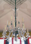 Chandelier, English, possibly by William Parker (fl.1756-1803), late eighteenth century, cut-glass with brass chain