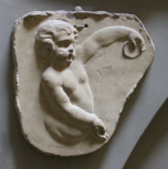 child throwing disc, plaster (also M786, M1261)