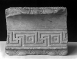 Fragment of Roman decorative moulding: perhaps the top of a cistern or fountain base(?)