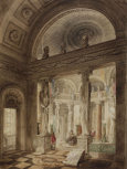 <i>Interior of Sepulchral Chapel for the Duke of York, 1827</i>