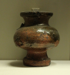 Glazed vessel, of unknown date.