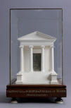 Model of the Roman Temple of Fortuna Virilis, by the River Tiber in Rome, 'restored', <i>c</i>.1800-1834, plaster of Paris.