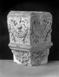 Fragmentary corner of a funerary monument (an architectural niche)