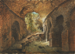 <i>View of the ruins of the Amphitheatre at Pozzuoli</i>
