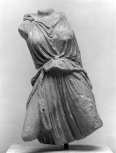 Figure of a youthful female from the frieze of the Erechtheion (or Erechtheum) on the Acropolis in Athens.