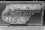 Fragment of the top of second fascia of an architrave (?)