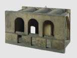 Model for the Bank of England, London, Bullion Office, (designed by Sir John Soane), <i>c</i>.1807, painted wood