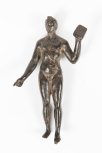 Statuette of a man (perhaps an Athlete?) holding a plaque
