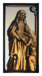<i>St. Anne teaching the Virgin to read,</i> stained glass panel,  Netherlandish or early German?, 16th century