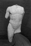 Torso of a statuette of the <i>doryphoros</i> (spear-bearer) after Polykleitos