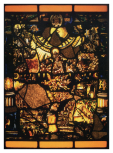 <i>The Last Judgement,</i> stained  glass panel, Swiss, <i>c</i>.1600