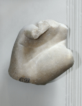 A colossal left hand from the statue of a major male dvinity or Emperor, pair with Soane M689
