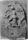 FRAGMENT OF A FIGURATED, DECORATED RELIEF PANEL