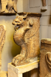 Cast of a<i> chimera</i> support from an Antique chair in the Vatican Museum