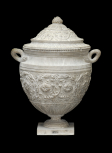 Cinerary vase with foliate scroll frieze