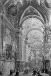 <i>View of the Interior of the Pauline Chapel in the Vatican Palace at Rome, with the Sacrament exposed during the Quarante Hora</i>
