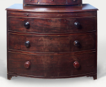 Bow-fronted chest of drawers, English, unknown maker, <i>c</i>.1790-1800