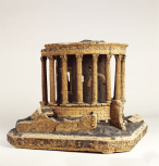 Model of the Roman circular Temple of Vesta at Tivoli, near Rome, by Giovanni Altieri (signed and dated 177?), cork