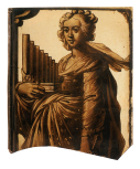 <i>St. Cecilia,</i> stained glass panel,  Netherlandish or German?, <i>c</i>.1600
