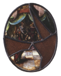 <i>Christ before Pilate</i>, stained glass panel, Netherlandish, 17th century