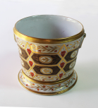 Cachepot, coalport, <i>c</i>.1800-10, pair with X488.